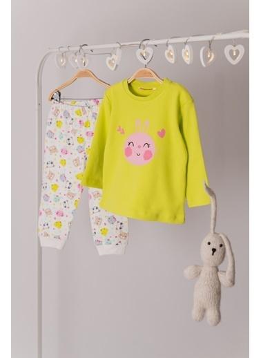 Zeyland Tavşan Baskılı Pijama Takımı (1-4yaş) Tavşan Baskılı Pijama Takımı (1-4yaş) Yeşil